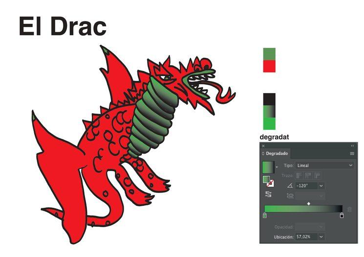 Personatge del drac, inspirat en el Drac de Sant Roc de Tarragona