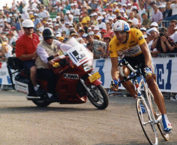 Indurain en la etapa prólogo en Le Puy de Fou (Tour de Francia de 1993)