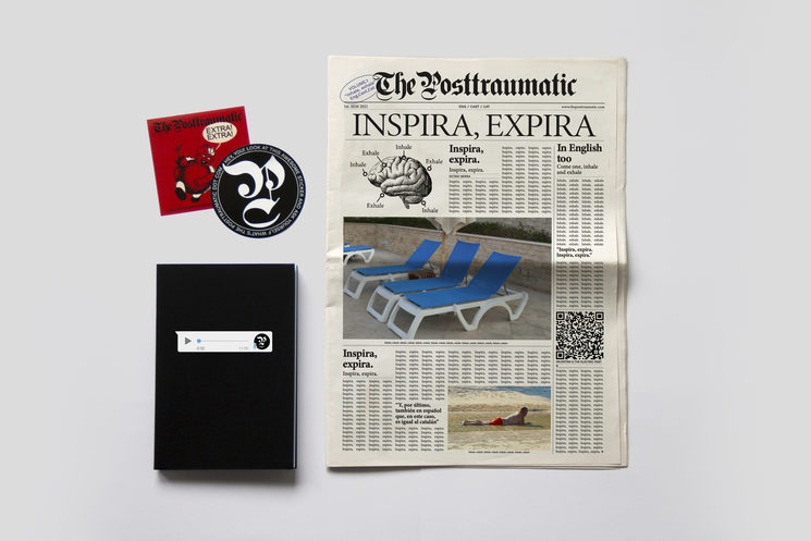 The Posttraumatic notebook. Design and concept by Ampparito.