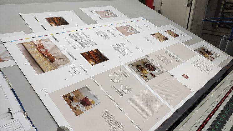 Fotografías, páginas, colores, secciones...todo en su sitio ¡Qué bien!