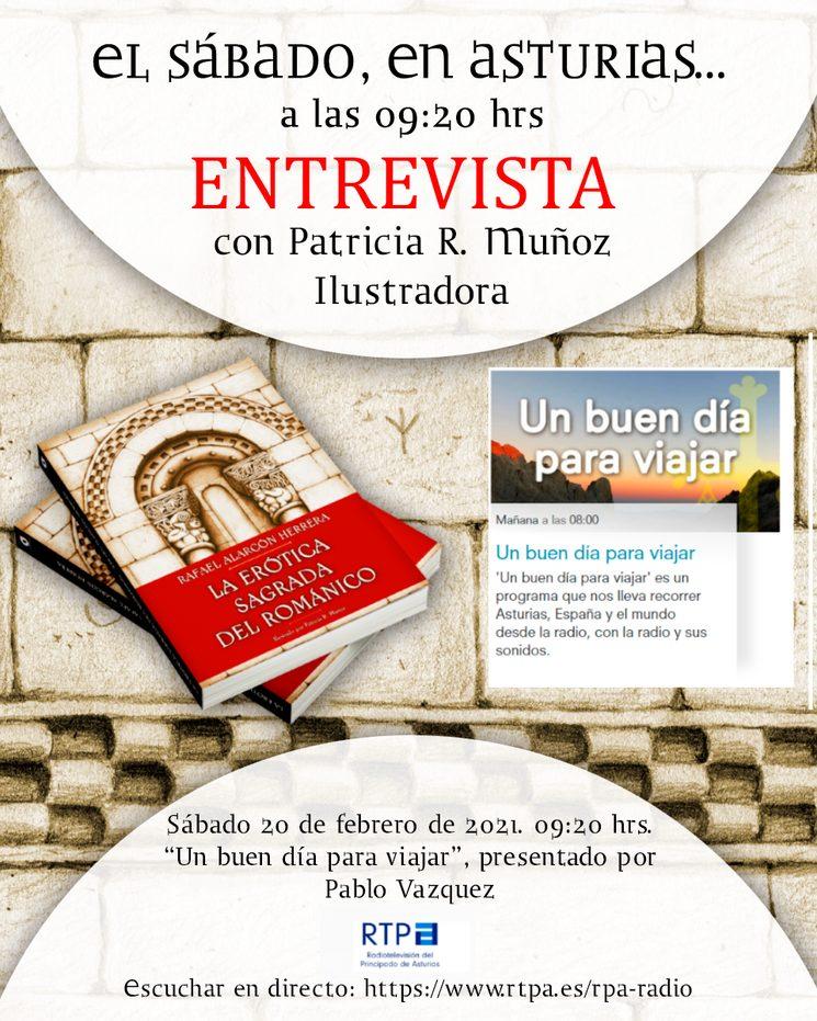 Entrevista a Patricia R. Muñoz en la Radio del Principado de Asturias.