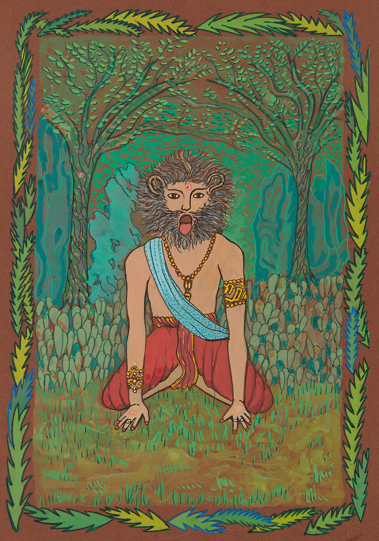 Postura El León (Simhasana)