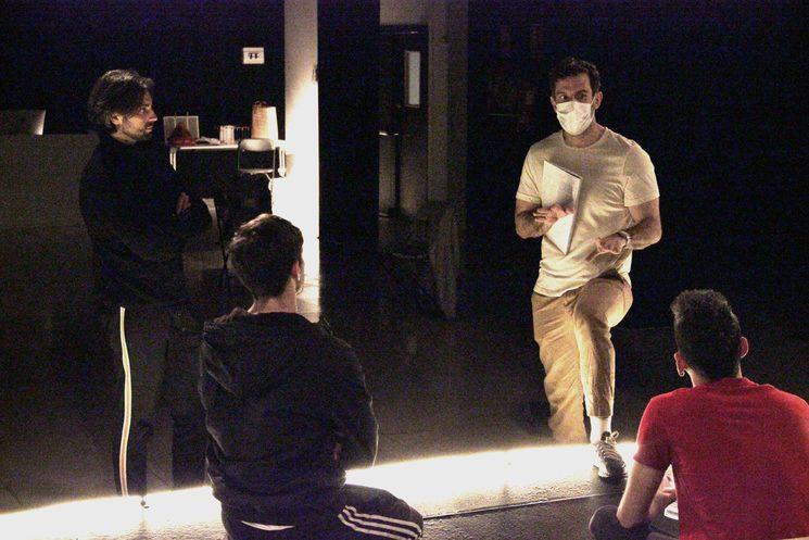 Christian Escuredo, Andrés Acevedo, Pedro Casas y Jorge Vidal en los ensayos de AFTERGLOW. Foto: Trini Quevedo