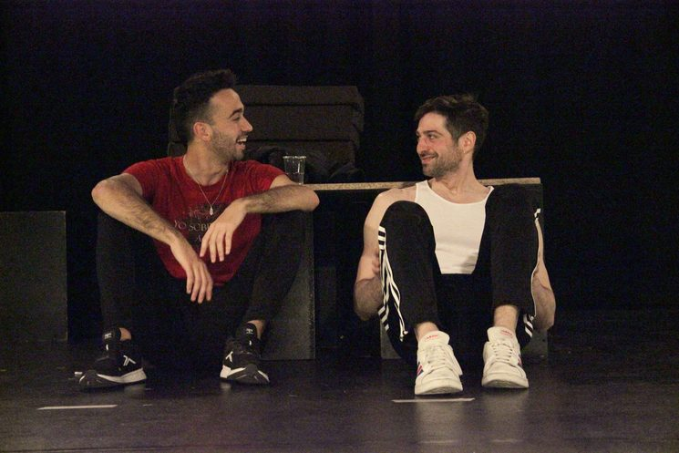 Jorge Vidal y Andrés Acevedo en los ensayos de AFTERGLOW Foto: Trini Quevedo