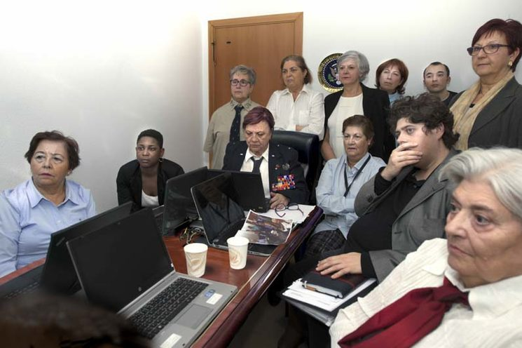 "President Obama and her National Security Team in the ""Situation Room"" of the White House. 2011."