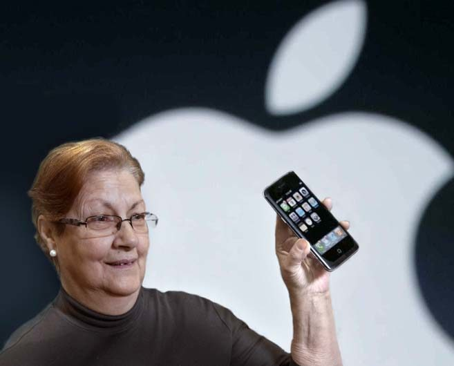 Steph Jobs presents the first iPhone. 2007.