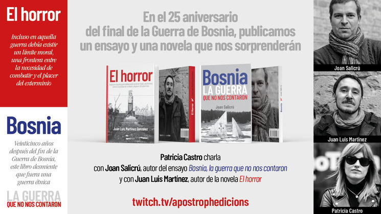 Joan Salicrú y Juan Luis Martínez nos hablan de sus libros sobre Bosnia