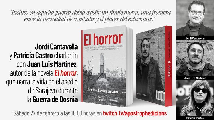 """El escritor Jordi Cantavella y Patricia Castro charlarán con Juan Luis Martínez, autor de """"El horror"""""""