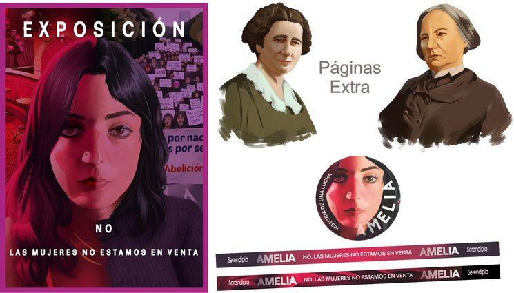 Recompensas Objetivo 3: Páginas Extra Cómic + Chapa + Pulseras + Exposición