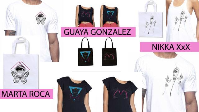 Diseños exclusivos en bolsas de tela y camisetas