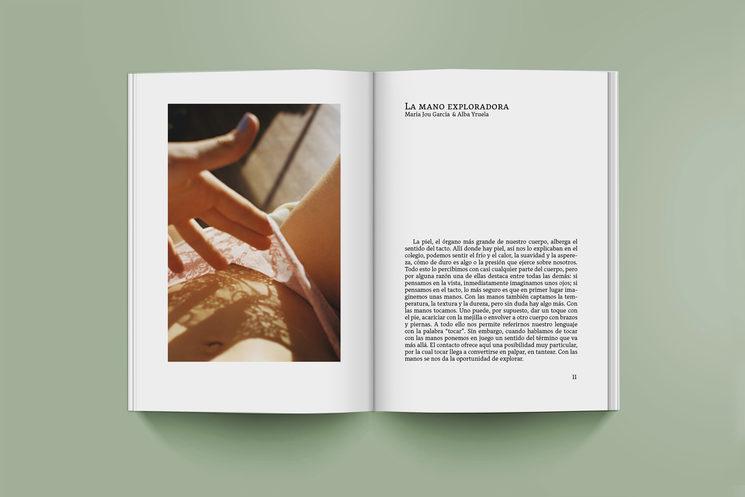 Mockup del ensayo de la filósofa María Jou acompañado de imágenes de la fotógrafa Alba Yruela