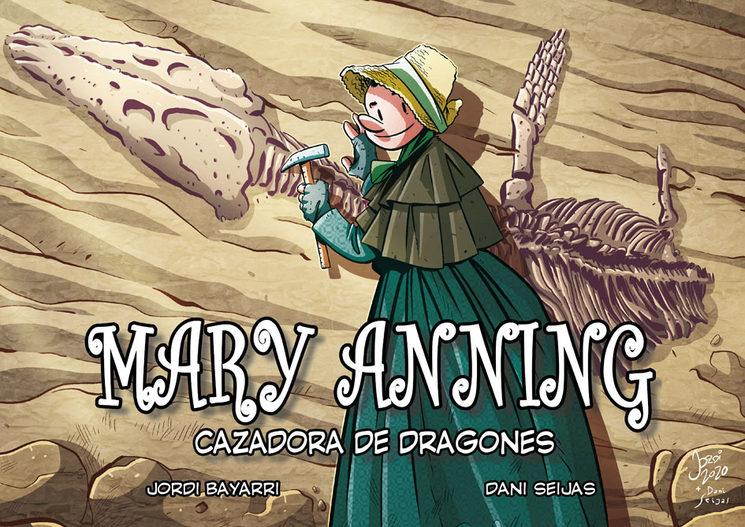 Portada de Mary Anning, cazadora de dragones