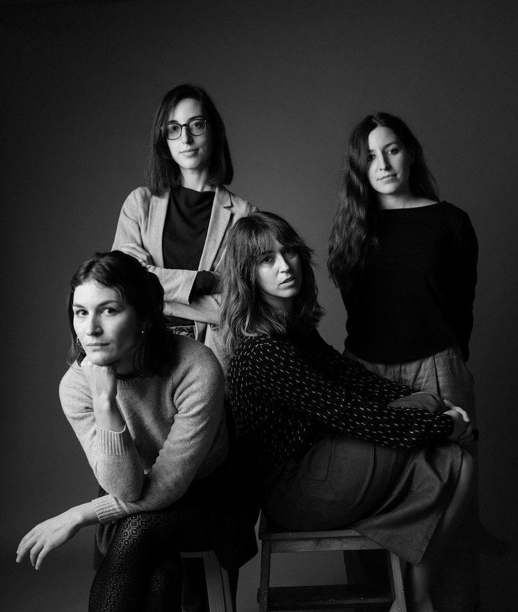 De izquierda a derecha: Carol Caicedo, Carlota Visier, Ana Jarque y Laura C. Vela