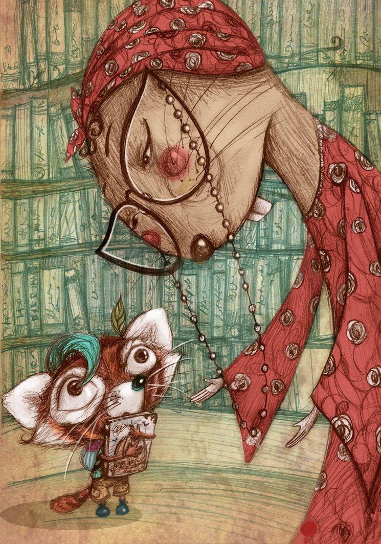 Samba y Gabriela (la bibliotecaria)