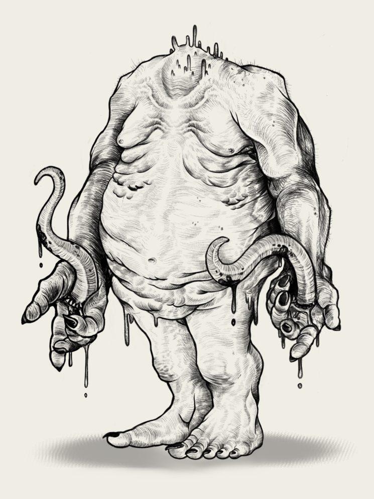 Y,Golonac. Ilustración de Hubert Spala