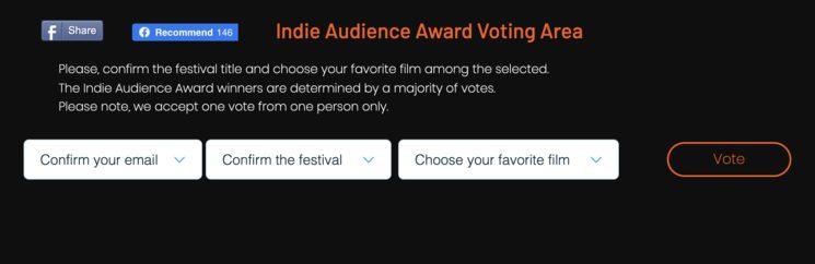 Votación a través del sitio web arriba indicado