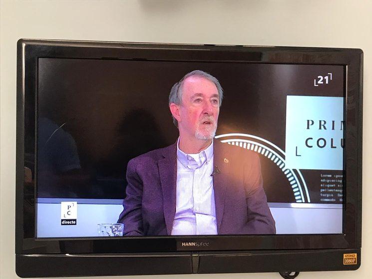 Josep Maria Franquet (Fundació Duran Martí) presentant TERRA PRESA