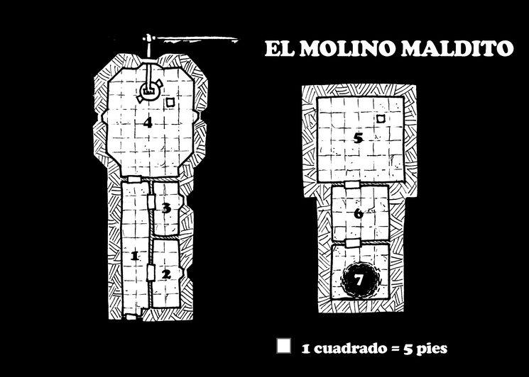 Plano del Molino Maldito, por Luis Ángel Madorrán.