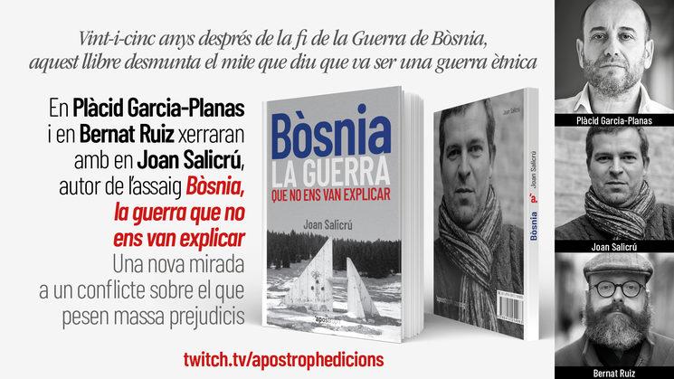 """Joan Salicrú i Plàcid Garcia-Planas parlen sobre """"Bòsnia, la guerra que no ens van explicar"""", al nostre canal de Youtube"""