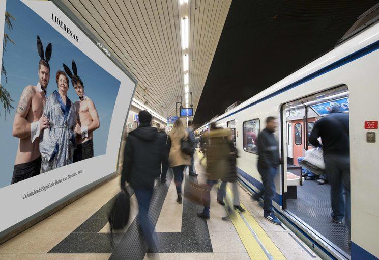 """Lideresas"" en el metro de Madrid"