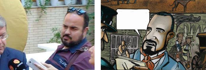 Fotografía facilitada por el mecenas y viñeta final del cómic