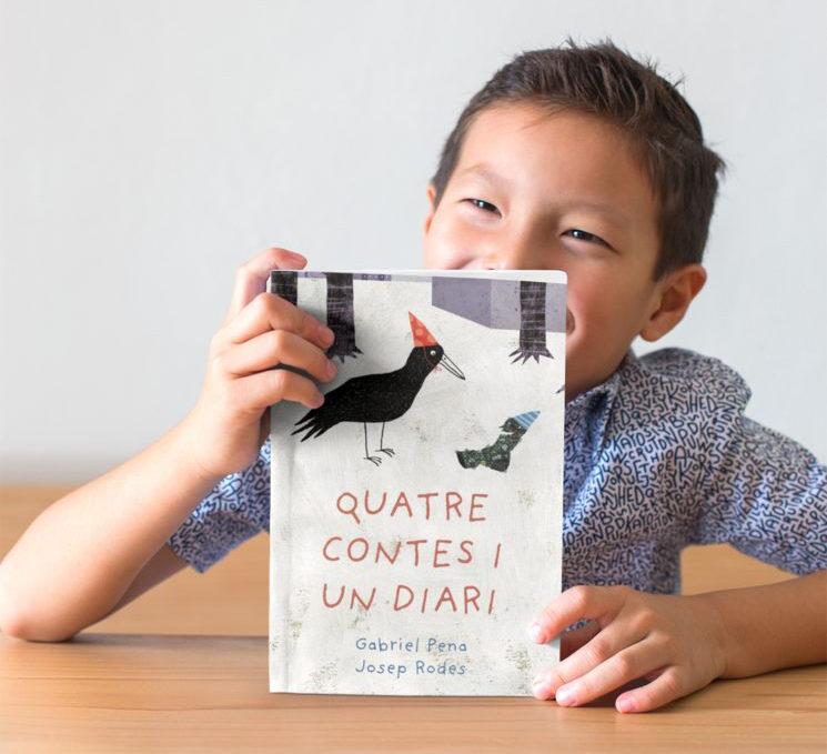 """Coberta del llibre """"Quatre contes i un diari"""""""