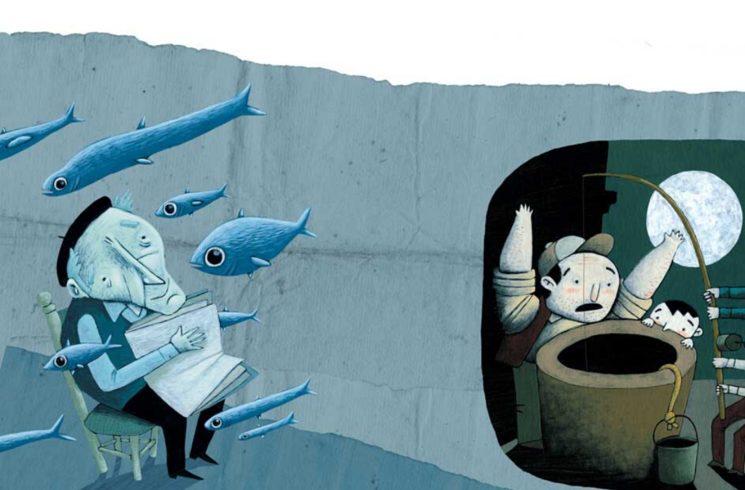 "Il·lustració del conte ""El pescador del forat"""