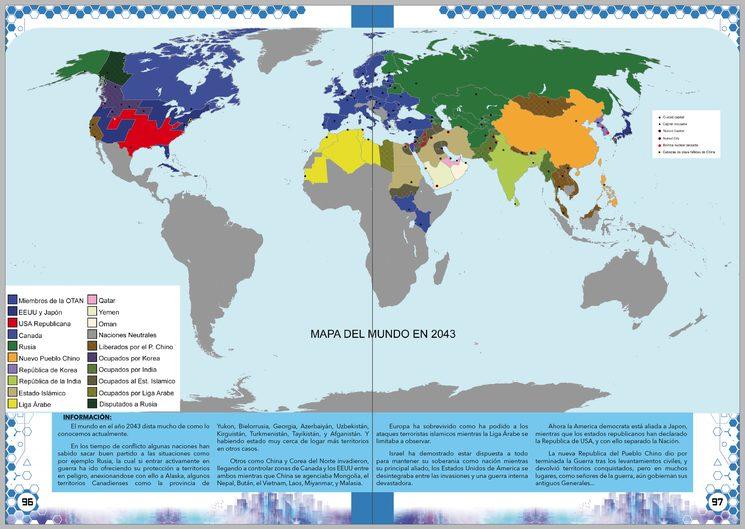 Mapa político tras la Tercera guerra mundial