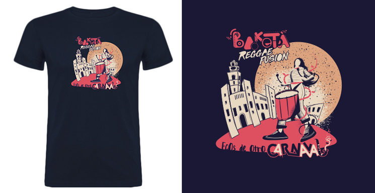 """Camiseta """"Ecos de otro Carnaval"""" diseño Josep Moltó"""