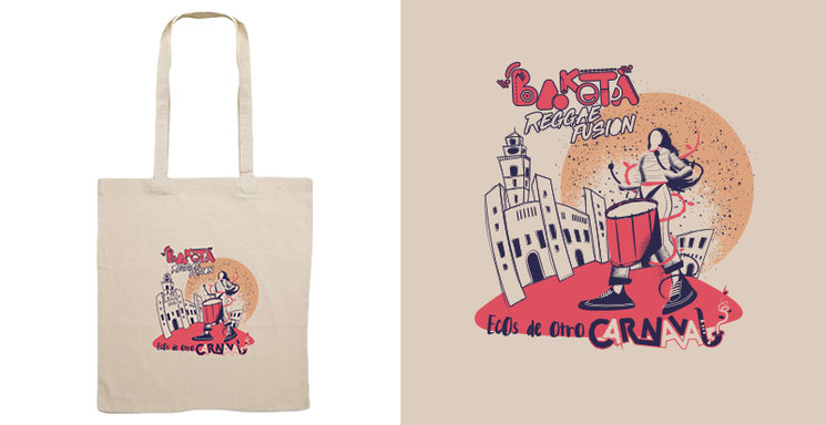 "Bolsa de tela ""Ecos de otro Carnaval"" diseño Josep Moltó"