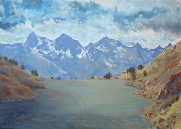 Brazato,  acrílico sobre lienzo 50x70 cm