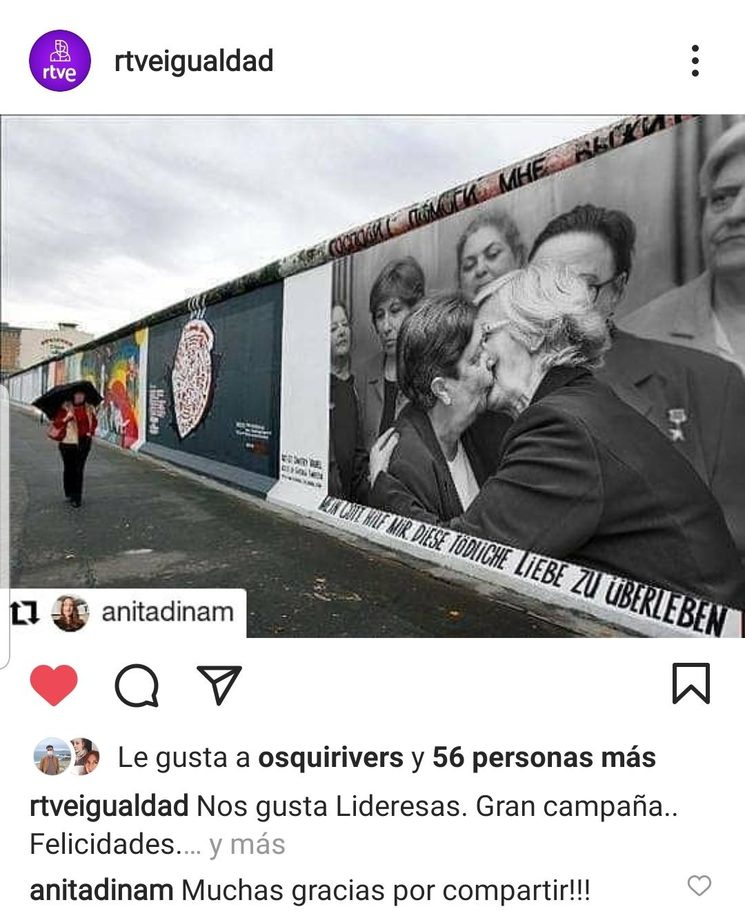 RTVE IGUALDAD publica una reseña de la campaña en su cuenta de Instagram!