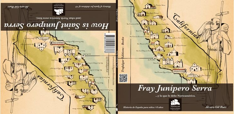 Fray Junípero Serra, bilingüe español/inglés