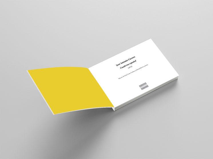 """Guarda y portada interior de """"Cuaderno español"""""""