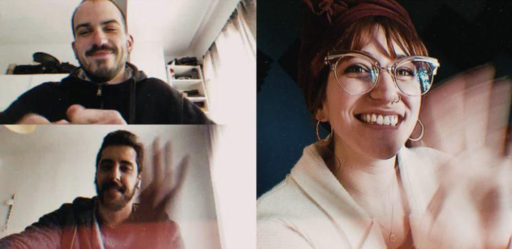 Nuestra primera reunión virtual con Aitor y Guille