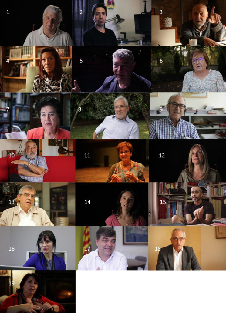 People interviewed in the documentary