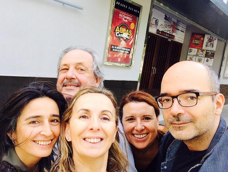 De izquierda a derecha: Claudia Bonilla, Enrique Ballesta, Mar Gómiz, Lourdes Crespo y Ángel Salguero.