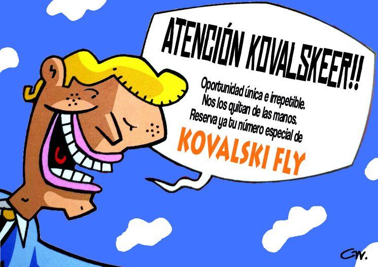 Número especial de Kovalski Fly. Ilustración de Gerard Miquel