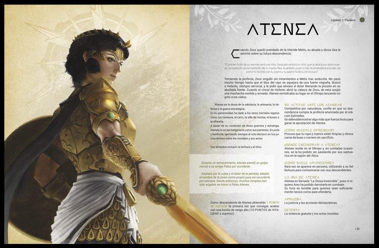 Atenea, ilustrada por Saúl Vicente López.