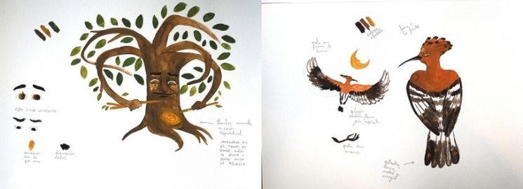 Primeros bocetos de los personajes - Israel Barranco