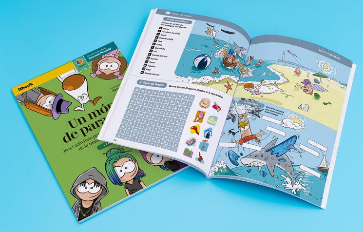 Quadern de 80 pàgines, amb jocs il·lustrats per a practicar el vocabulari en valencià, per a les famílies mecenes de l