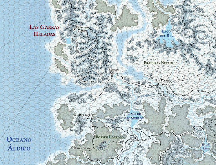Detalle del mapa de Los Territorios