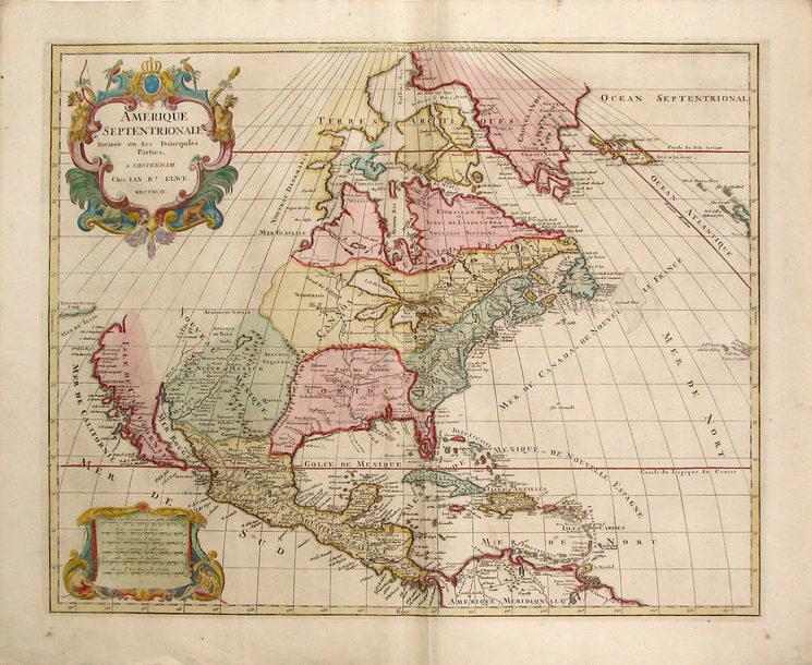 Norteamérica, 1792, Jaillot-Elwe