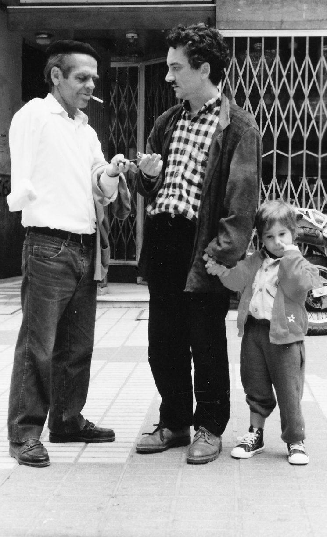 """Salvi Laporte con su hijo y con """"El Manco"""""""
