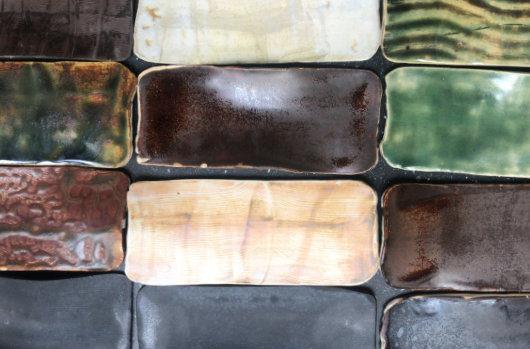 Ivory or black stoneware tray, 1250º glaze