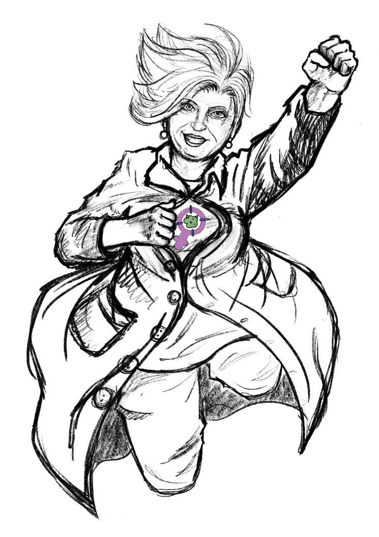 Boceto de la doctora Ana Lluch (Laura Takeru)