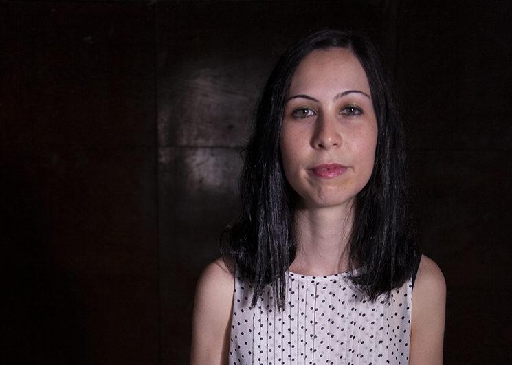 Ana Castro durante el rodaje con Poética 2.0.