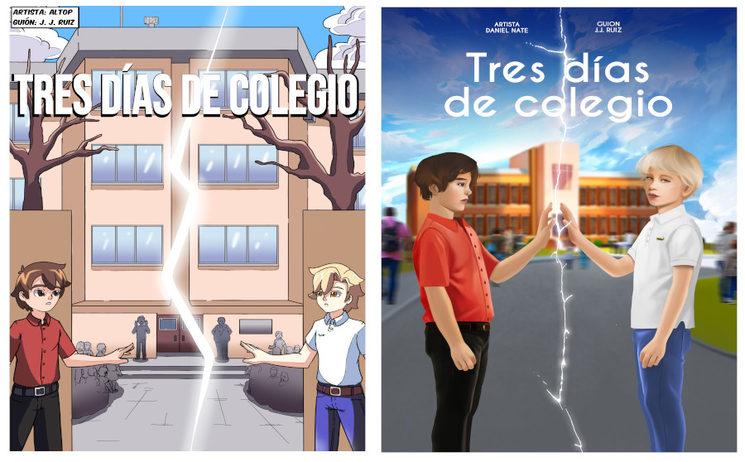 Portada estilo manga (Izquierda) y portada estilo Realista (derecha)