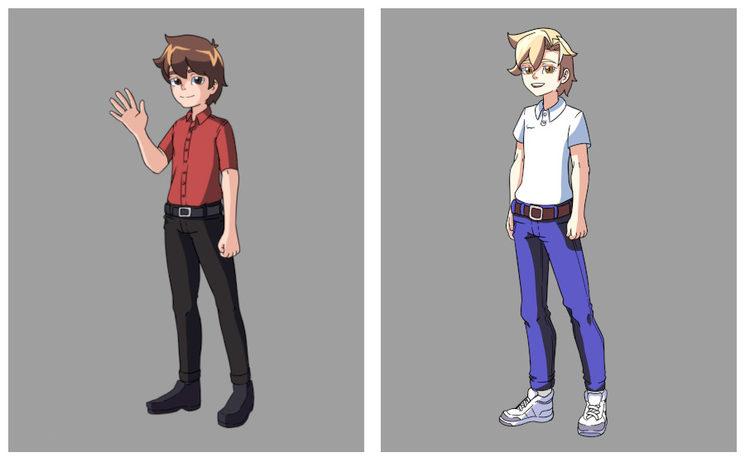 Lámina en estilo manga puedes elegir a Gaspar (izquierda) o Felipe (Derecha)