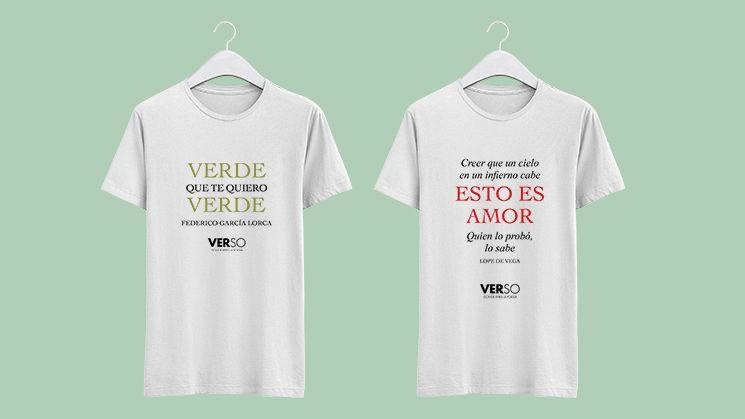 Consigue una de estas dos camisetas al hacerte mecenas de VERSO.